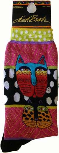 Cat Socks from Laurel Burch (1074 multi)