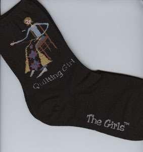 Quilting Girl Socks (black)