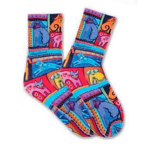 Laurel Burch Socks - Colourful Dogs