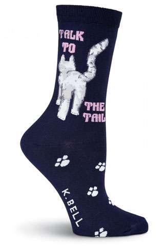 Talk to the Tail - Navy Socks