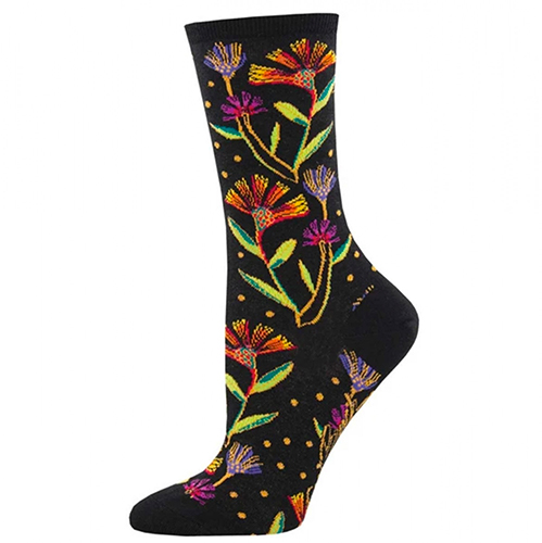 Laurel Burch Wildflowers Black Socks preview