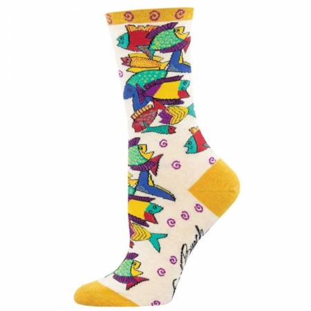 Laurel Burch Socks - Pescadero Ivory Heather preview