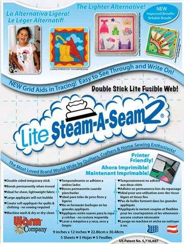 Lite Steam-A-Seam 2 (5 sheets - 9 inches x 12 inches)