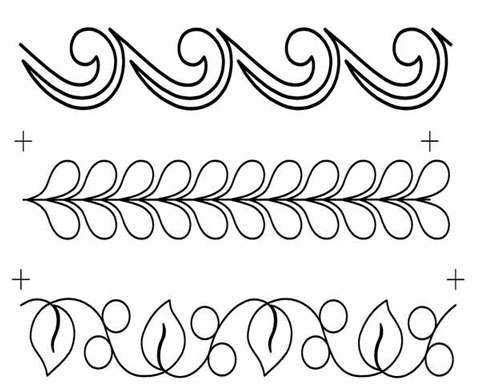 Full Line Stencil Border Assortment 3