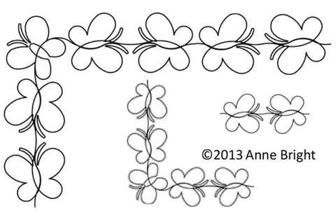 Baby Girl Butterfly Border - Stencil preview