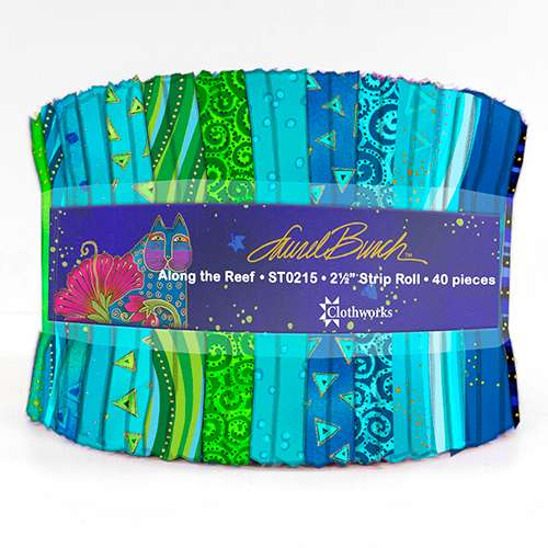 """Laurel Burch - Along The Reef - 2-1/2"""" Strip Roll preview"""