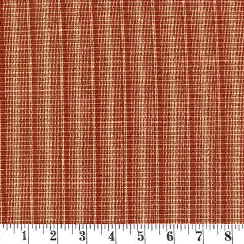 T656 Woven Plaid - yarn dyed rust