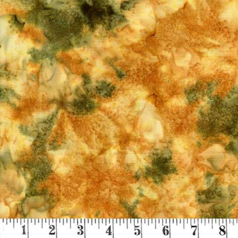 T723 Hoffman - 1895 Batik green/yellow/gold
