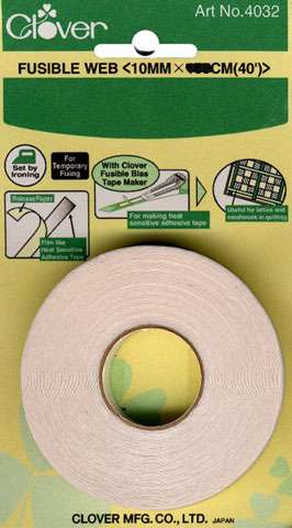 Clover Fusible Bias Tape Web (10 mm)