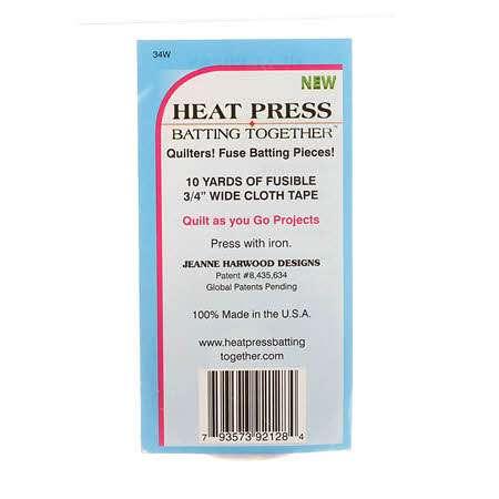 Heat Press Batting Together - Tape (3/4 inch x 10 yards)