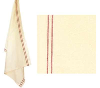 Vintage Tea Towel with Red Stripe