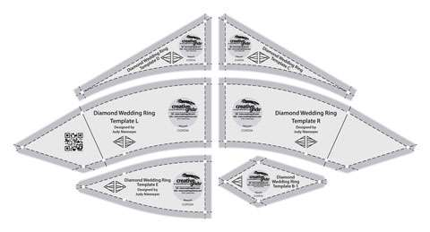 Creative Grids Diamond Wedding Ring Template Set CGRDIA preview