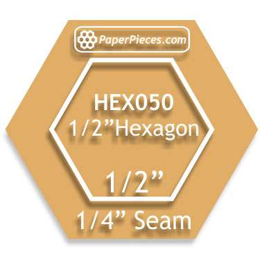 Acrylic Cutting Template - 1/2 Inch Hexagon