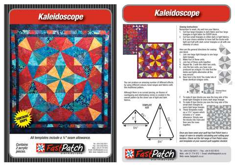 Kaleidoscope Template Fast Patch Piecing