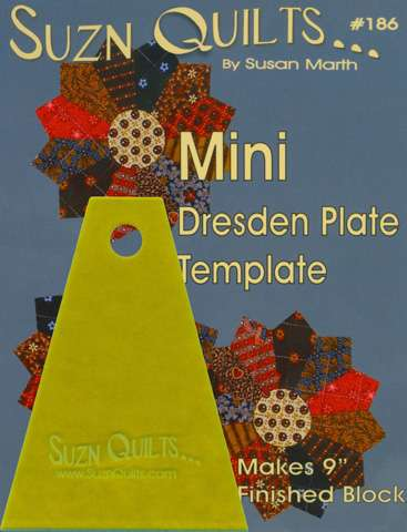 Mini Dresden Plate Template by Susan Marth