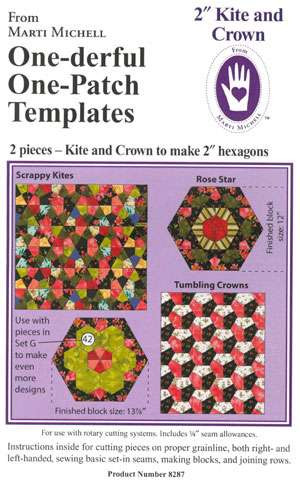 "One-derful One-Patch Template - 2"" Kite and Crown (Marti Michell)"