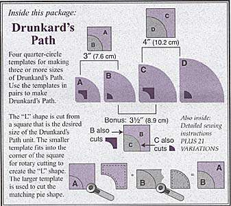 Drunkard's Path Template Set