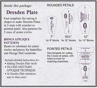 Dresden Plate Template Set By Marti Michell Marti MichellNotions - Dresden plate template