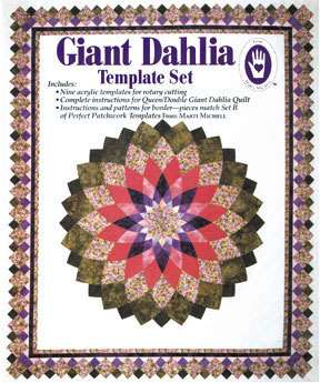 Giant Dahlia Template by Marti Michell