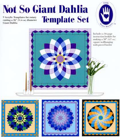 Not So Giant Dahlia Template Set by Marti Michell preview