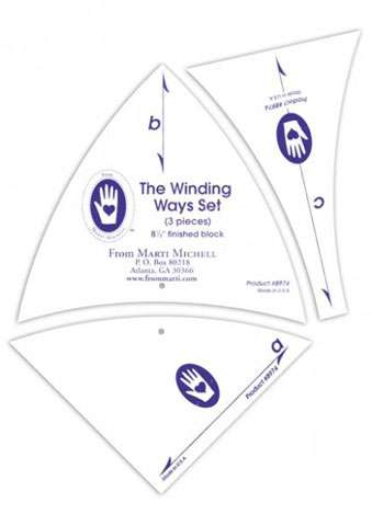 "8 1/2"" Winding Ways Template Set by Marti Michell"