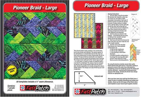 Large Pioneer Braid Template - Fast Patch