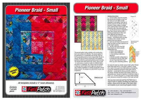 Small Pioneer Braid Template - Fast Patch