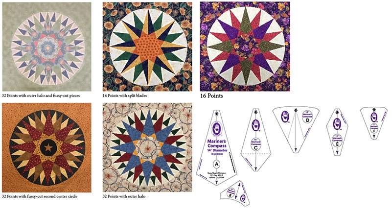 """Mariner's Compass Set - 14"""" by Marti Michell preview"""