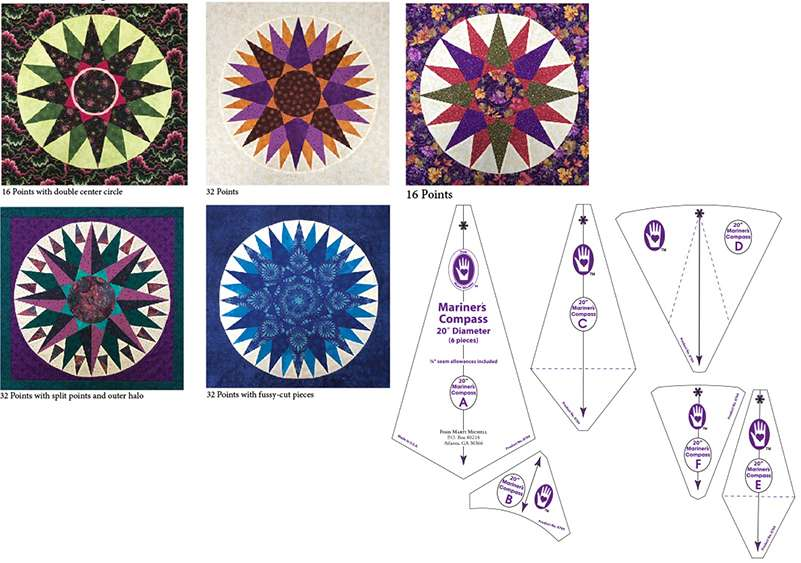 """Mariner's Compass Set - 20"""" by Marti Michell preview"""