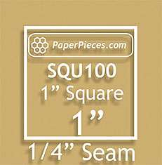 "Acrylic 1 Inch Square Cutting Template with 1/4"" Seam Allowance"