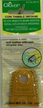 Clover Leather Coin Thimble - medium