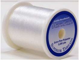 Mono Poly Polyester Thread (2200 yds) - Clear