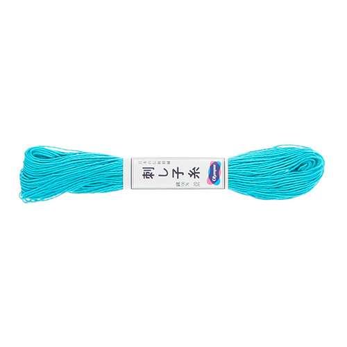 Olympus Sashiko Thread - Cyan Blue (17) (22yd skein)  preview
