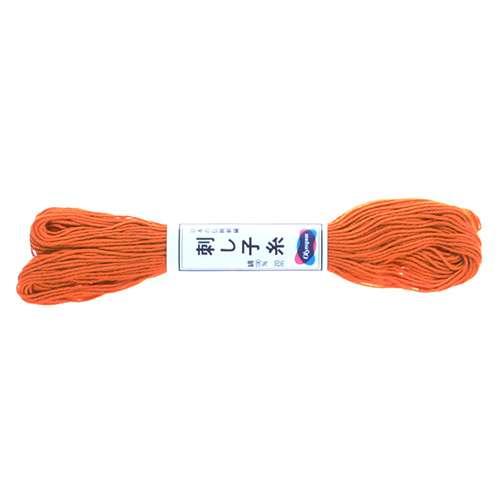 Olympus Sashiko Thread - Carrot Orange  (04) (22yd skein) preview