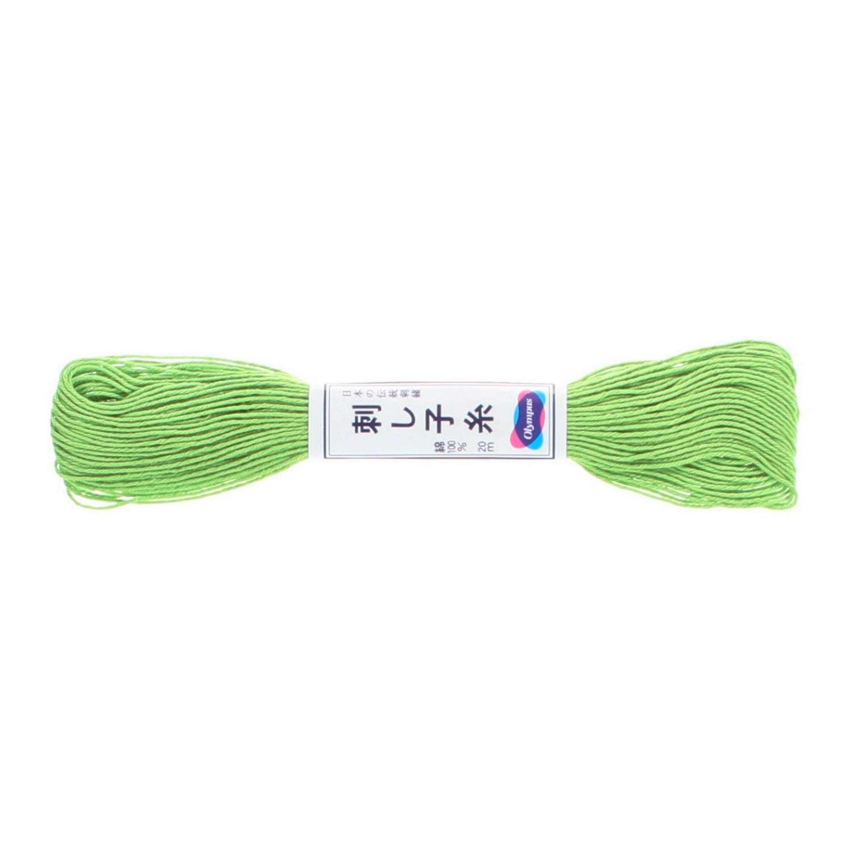Olympus Sashiko Thread - Yellowish Green (06) (22yd skein)  preview