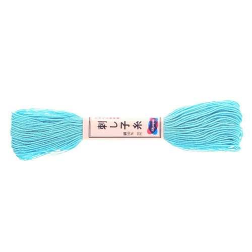 Olympus Sashiko Thread -  Aqua Blue (08) (22yd skein) preview