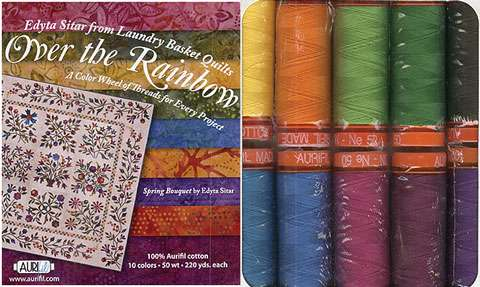 Aurifil Cotton Thread Collection - Edyta Sitar's Over The Rainbow