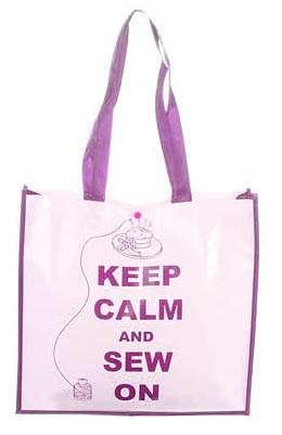 """Tote Bag """"Keep Calm & Sew On"""""""