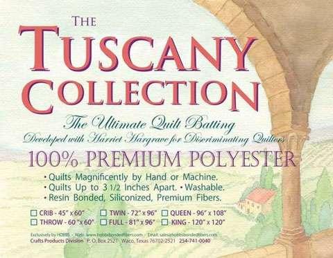 Tuscany Polyester White Batting (Full)