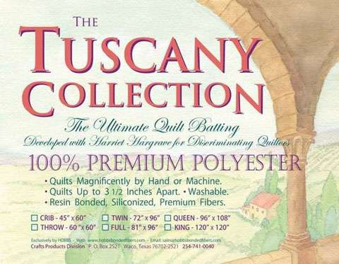 Tuscany Polyester White Batting (Twin)
