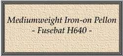 U267 Mediumweight Iron-on Pellon - Fusebat (H640)