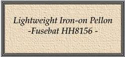 U269 Lightweight Iron-on Pellon - Fusebat (HH8156)  preview