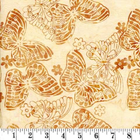 V575 Bali - butterflies honey/cream