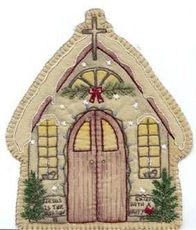 Vintage Ornament #13 - Church