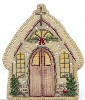 Vintage Ornament #13 - Church