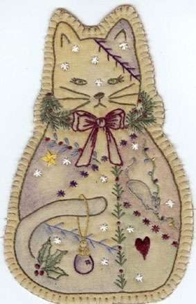 Vintage Ornament #14 - Cat