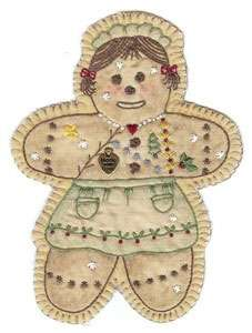 Vintage Ornament #16 - Gingerbread Girl