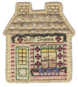 Vintage Ornament #18 - Quilt Shoppe