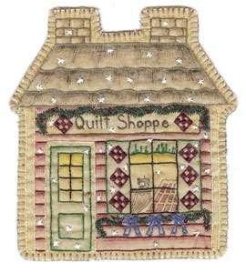Vintage Ornament #18 - Quilt Shoppe