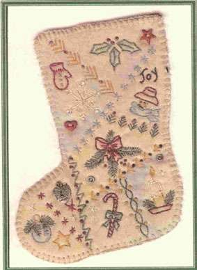 Vintage Ornament #1 - Christmas Stocking